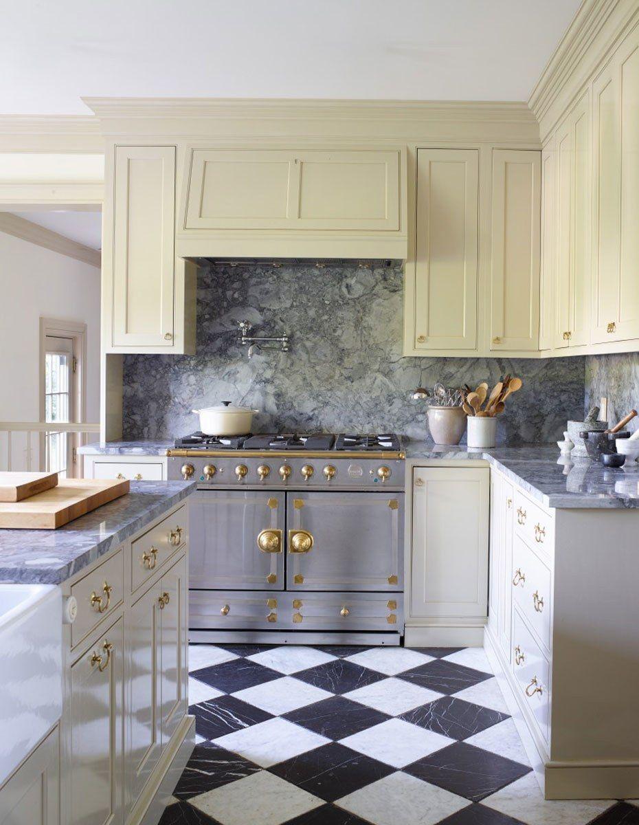 23 White Kitchens Without Wood Floors | Kitchen flooring ...
