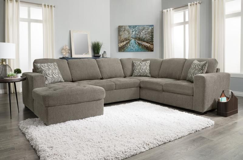 Tremendous Izzy 3 Piece Chenille Left Facing Sectional With Sofa Bed Inzonedesignstudio Interior Chair Design Inzonedesignstudiocom