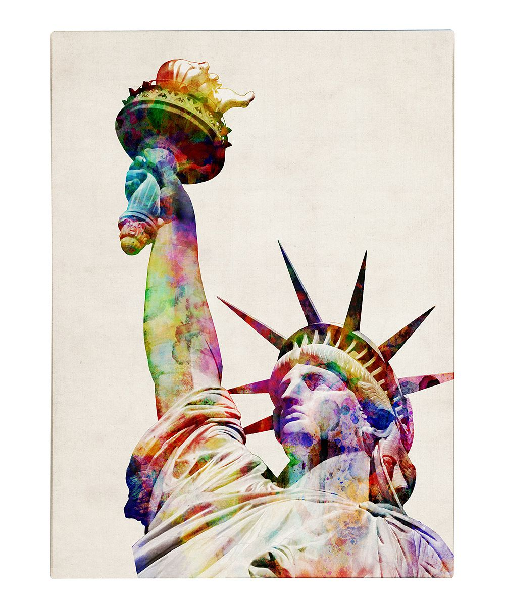 Statue Of Liberty Gallery Wrapped Canvas Zulily Wall Canvas Trademark Art Canvas Wall Art