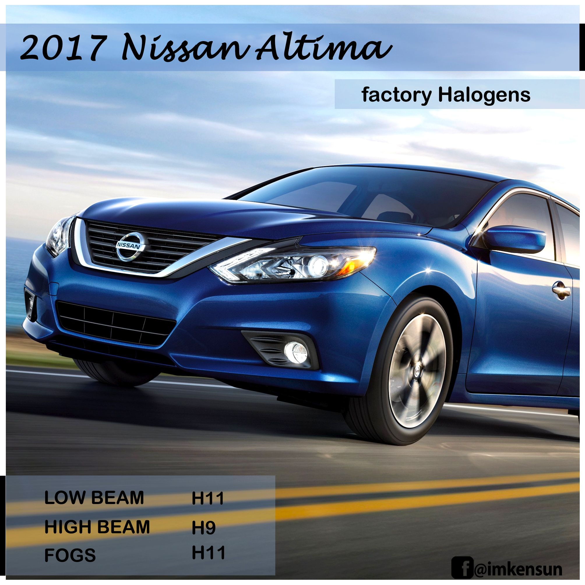 Bulb Sizes For 2017 Nissan Altima With Oem Halogens H11 For Low