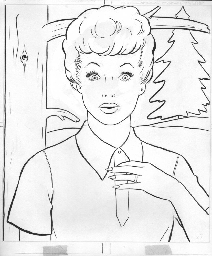 i love lucy coloring pages anthony 39 s comic book art for sale artwork i love