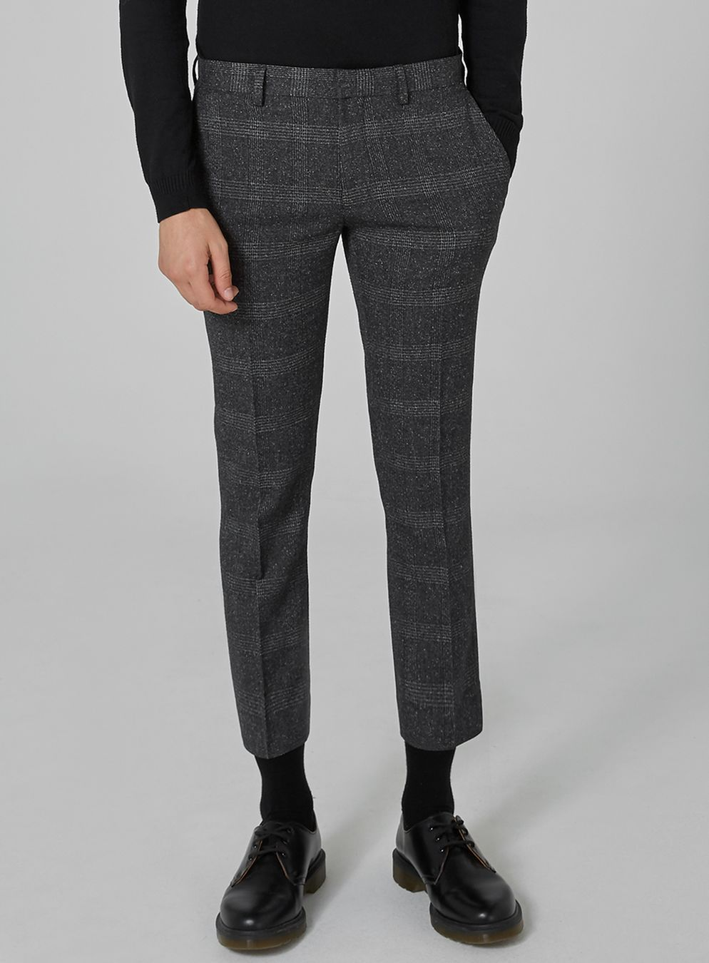 58e38b52fd16 Grey Check Ultra Skinny Trousers | suit | Trousers, Pants, Skinny