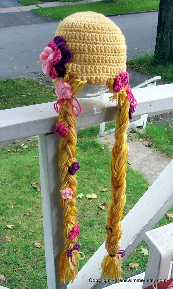 Rapunzel hat--I know a little girl who would love this hat ... f82490dbb14