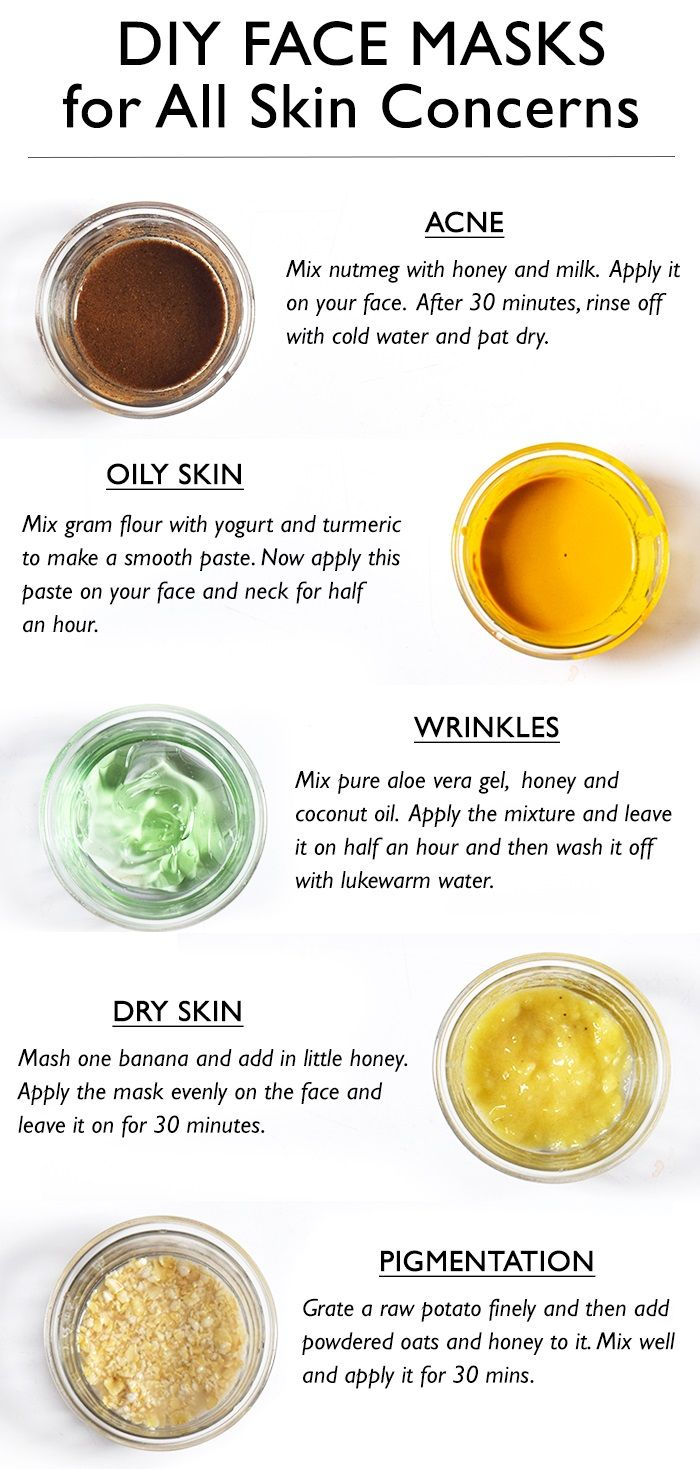 Diy Face Mask For All Types Of Skin In 2020 Mask For Oily Skin Mask For Dry Skin Natural Face Mask