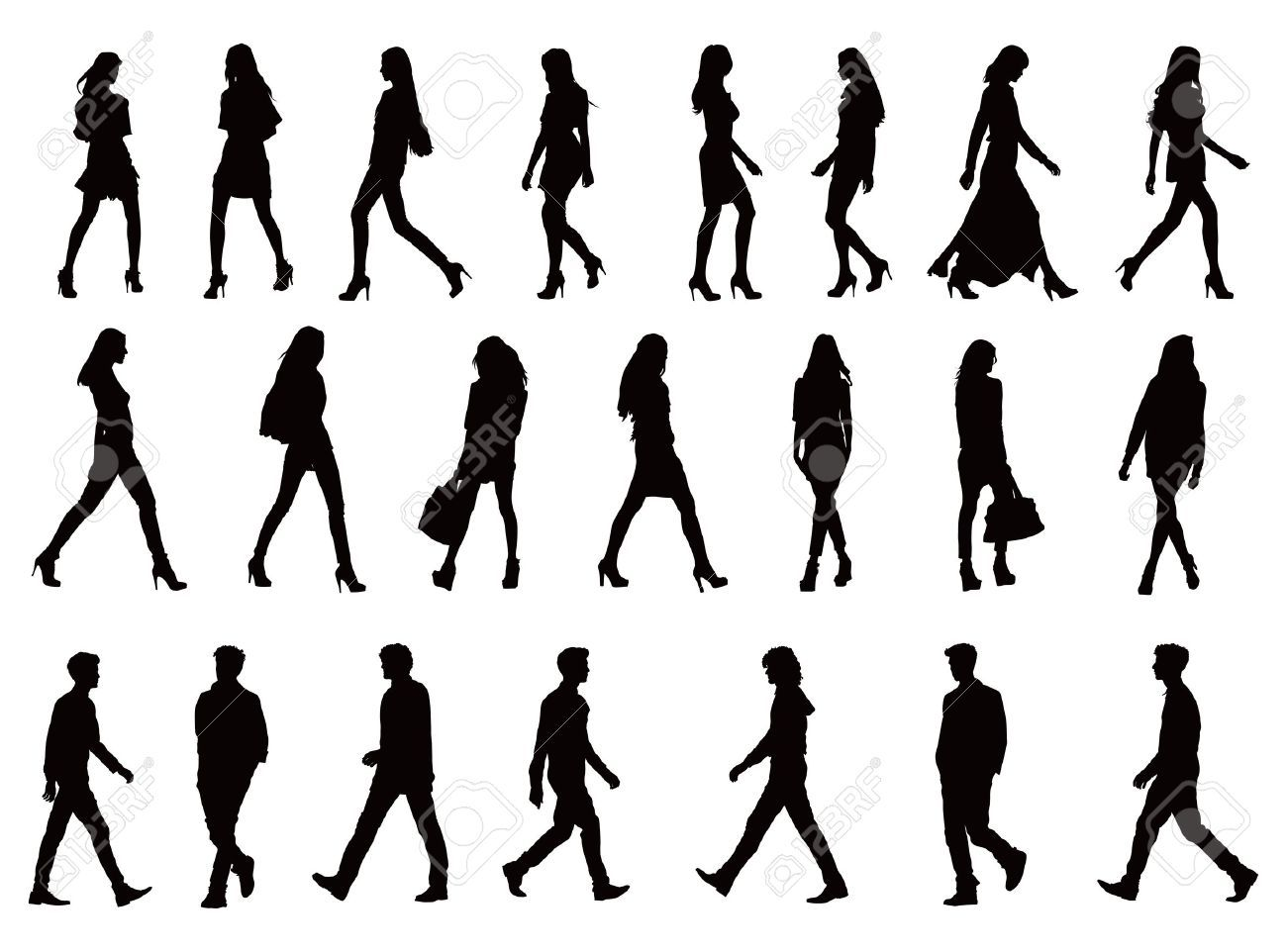 Silhouette Paintings Of People Image Result For Silhouette People Art Plastique
