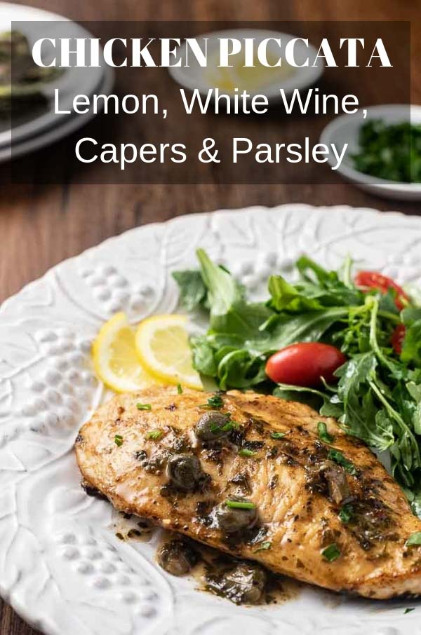 Lemon Chicken Piccata is a budget-friendly take on an Italian classic! Incredibly easy and low carb, this recipe is one you'll want to make again and again! #chickenrecipes #lowcarb #piccata #lemonchicken #keto