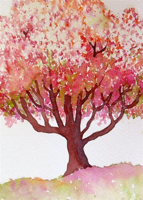 Watercolor Trees Ecosia Peinture Arbre Dessin Arbre Dessin D