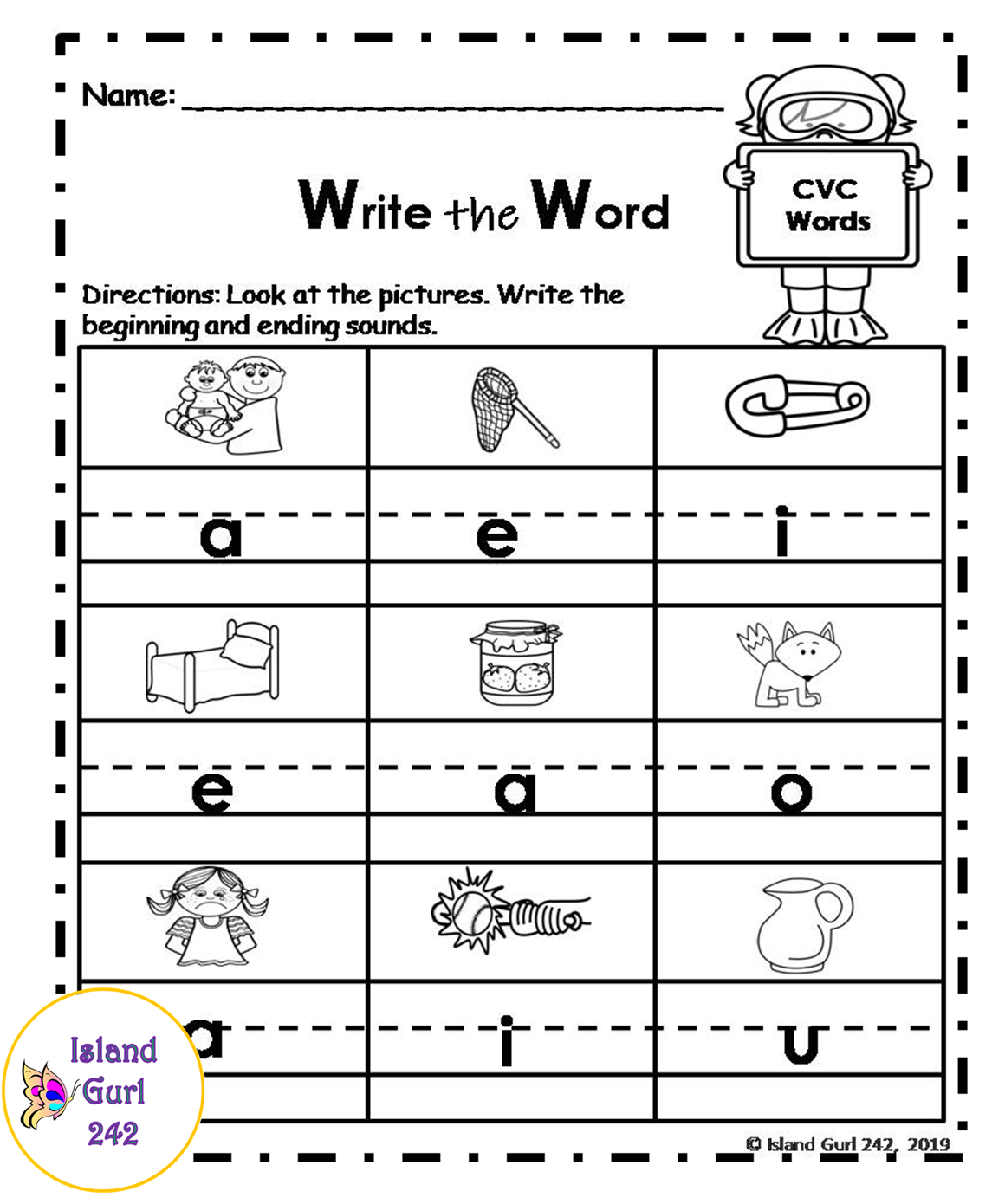 Short Vowels No Prep Worksheets