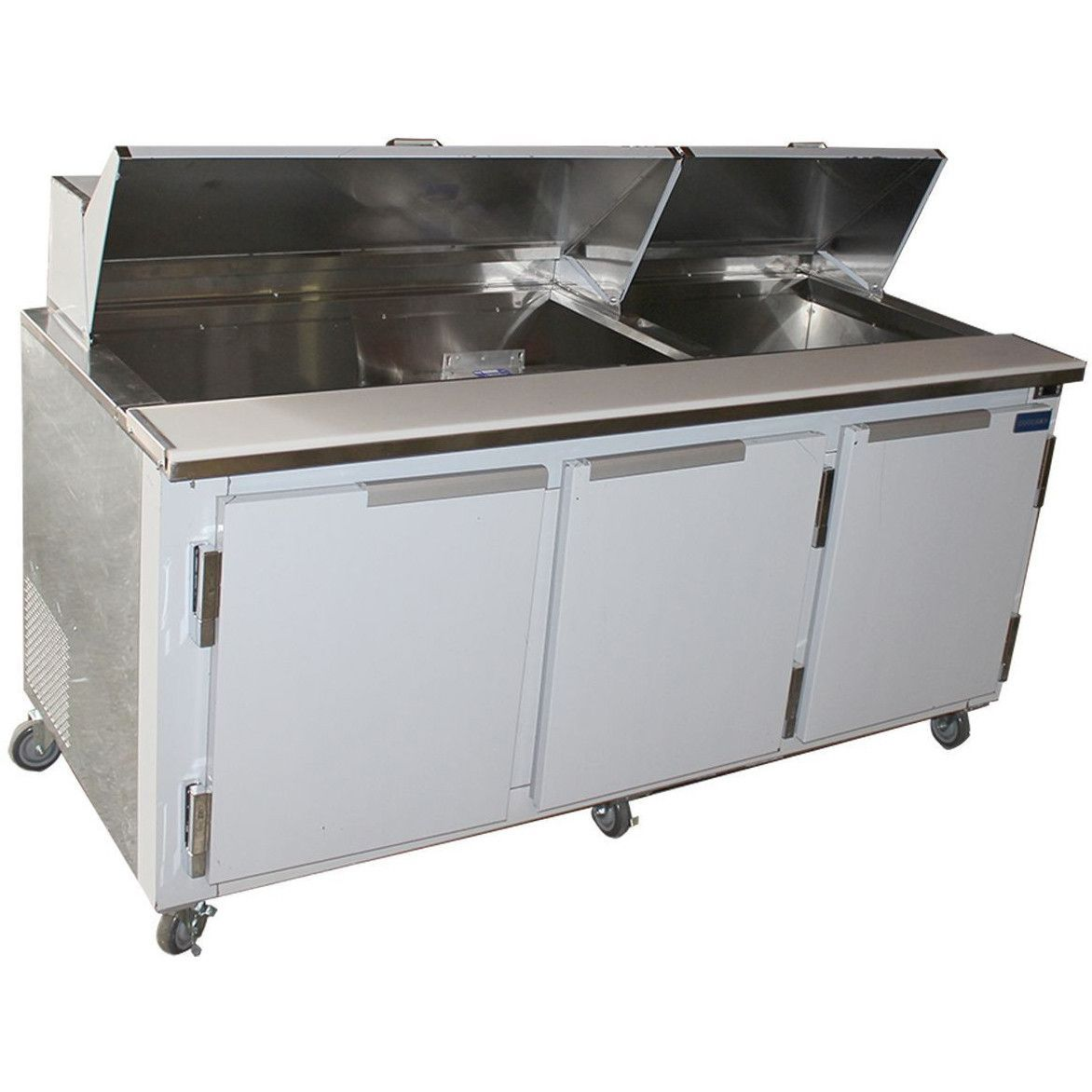 Coolman 72 Commercial Refrigerated Sandwich Prep Table Back Motor