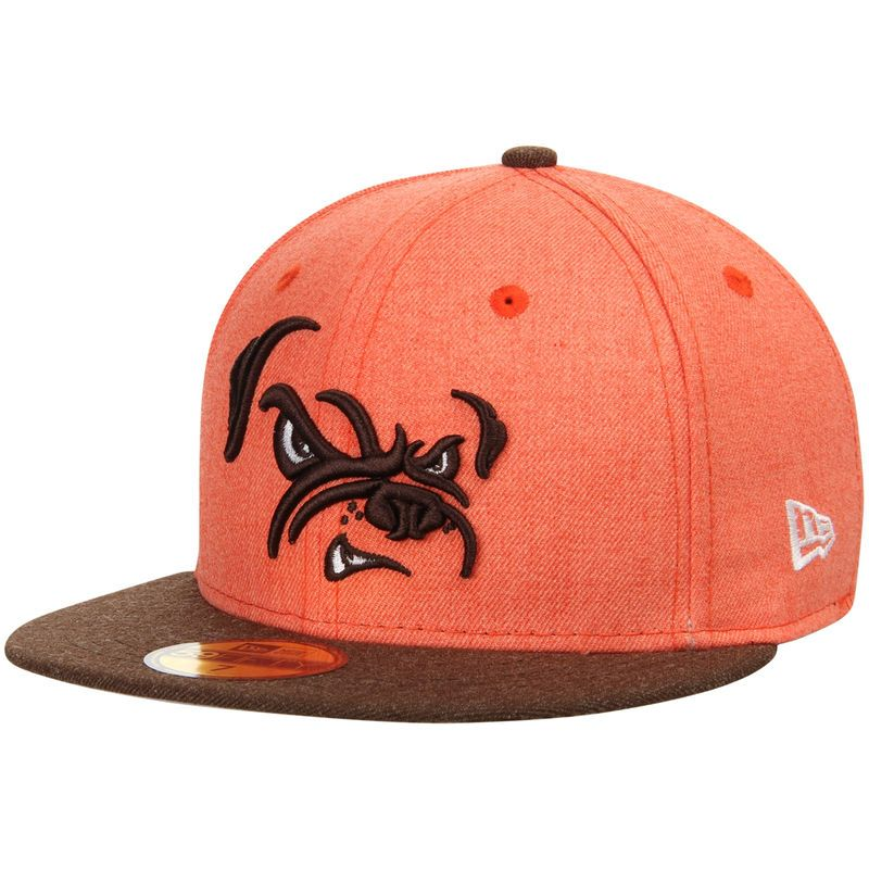 Cleveland Browns New Era Heather Action 59FIFTY Fitted Hat - Orange ... 98a69f28b616