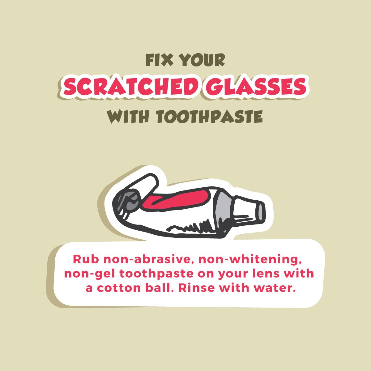 KEEP YOUR SUNGLASSES LOOKING BRAND NEW with this toothpaste trick!  Palm Valley Pediatric Dentistry Advisory Board!