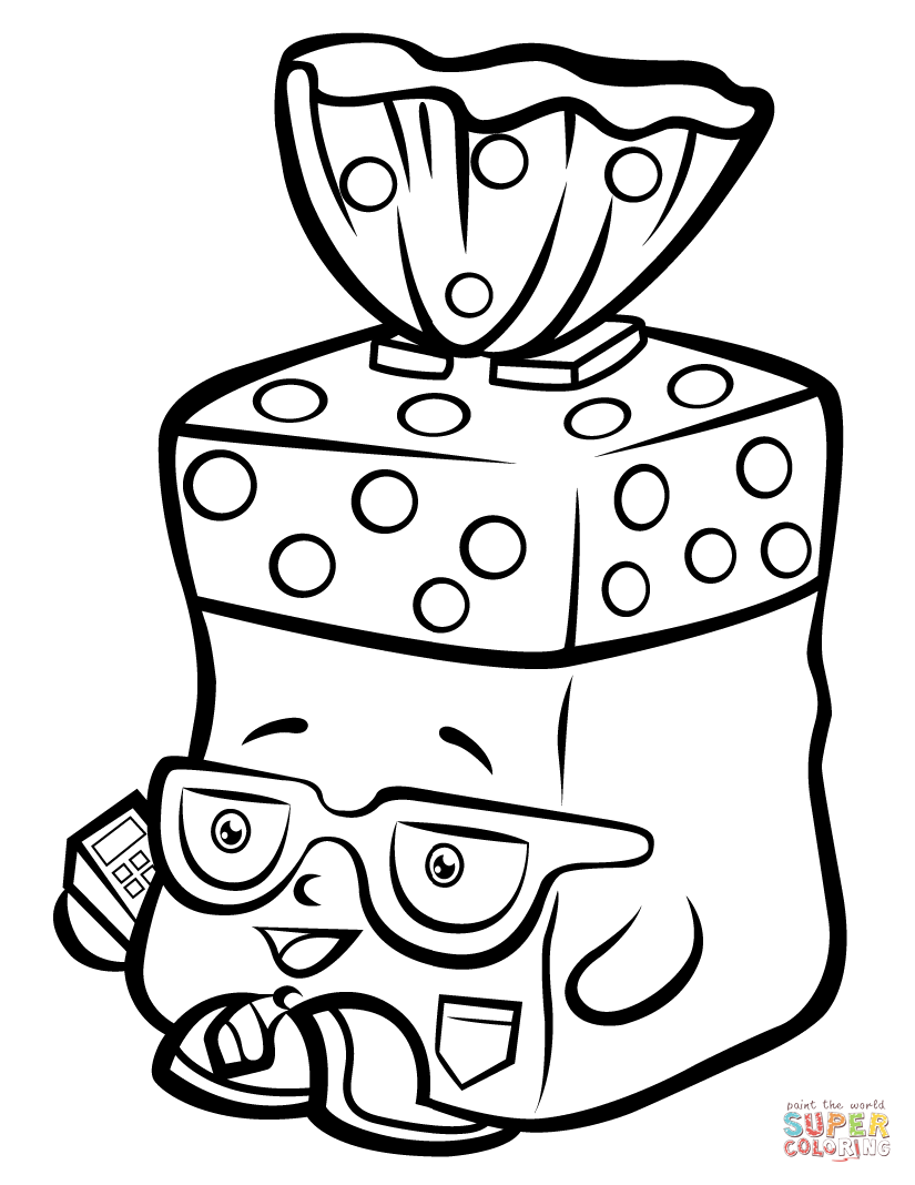 Bread head shopkin coloring page free printable coloring pages
