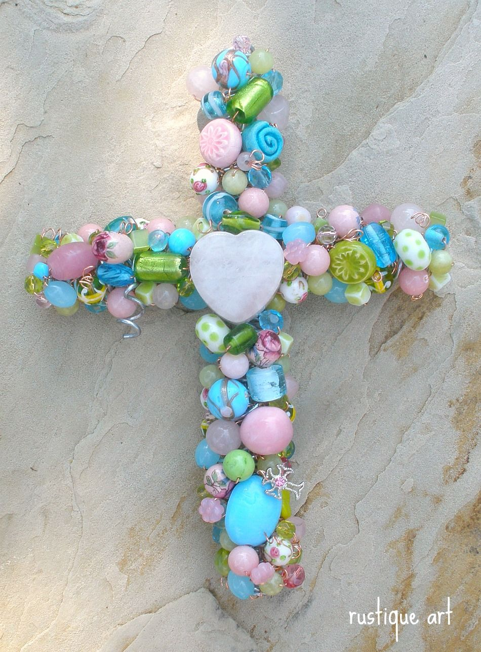 Rustique Art: Designing a Beaded Wire Cross | I ♥ crosses ...