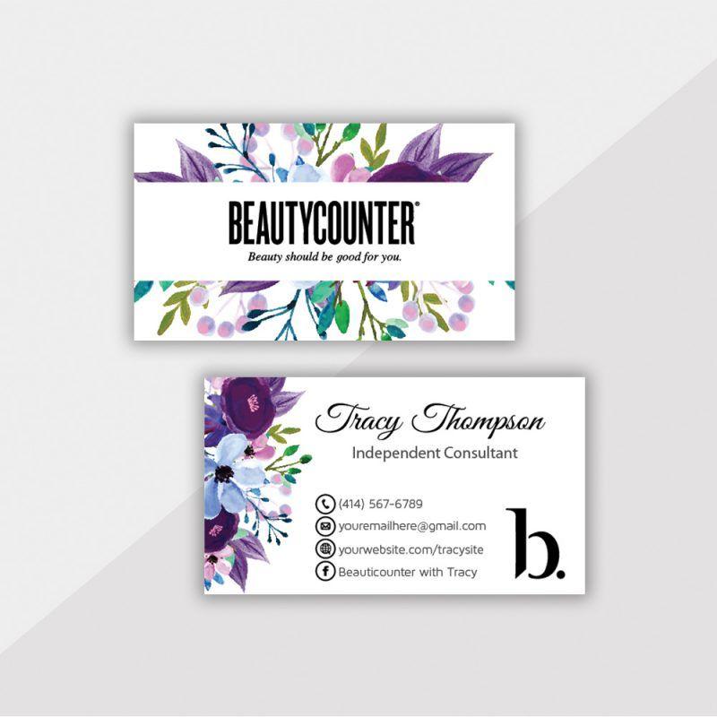 Personalized Beautycounter Cards Beautycounter Business Cards Bc09 In 2020 Beautycounter Business Beautycounter Business Cards