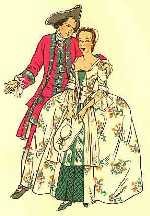 1750 English Fashion Renaissance Clothing 18th Century Costume Clothes