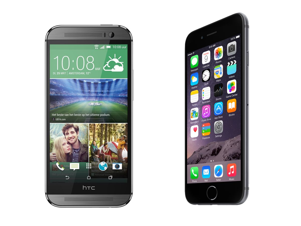 Apple iPhone 6 vs HTC One M8 the weigh in Htc, Htc one