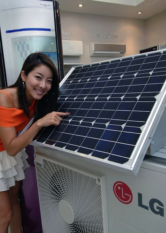 LG electronics: solar hybrid air conditioner | SOLAR | Solar