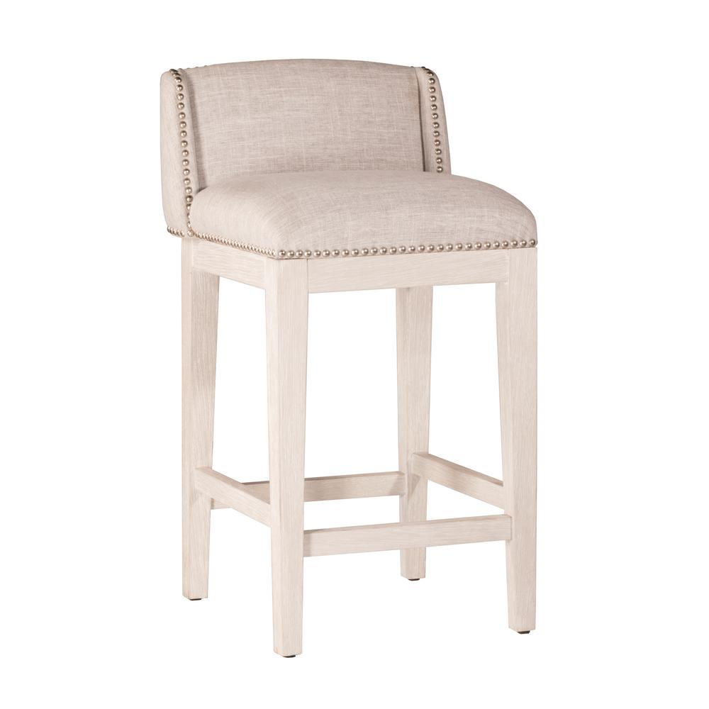 Hillsdale Furniture Bronn 26 In White Non Swivel Counter Stool Set Of 2 4578 827 Hillsdale Furniture Swivel Counter Stools Bar Stools