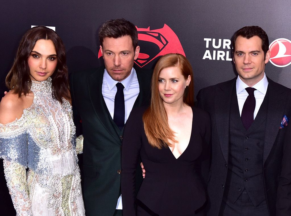 Gal Gadot, Ben Affleck, Amy Adams & Henry Cavill from Movie Premieres: Red Carpets and Parties!  The Batman v Superman: Dawn of Justice stars buddy up at the New York premiere of their superhero flick.