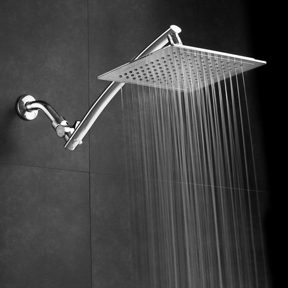 Razor Mega Size 9 Inch Chrome Face Square Rainfall Shower With