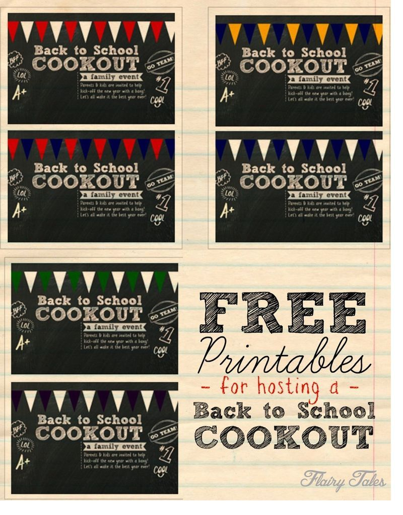 free printable invite for hosting a back to school cookout where