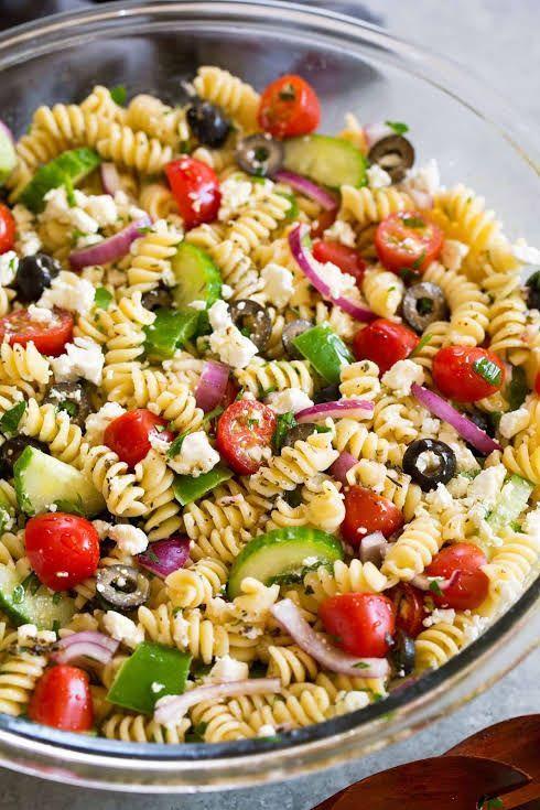 Greek Pasta Salad Recipe | Yummly