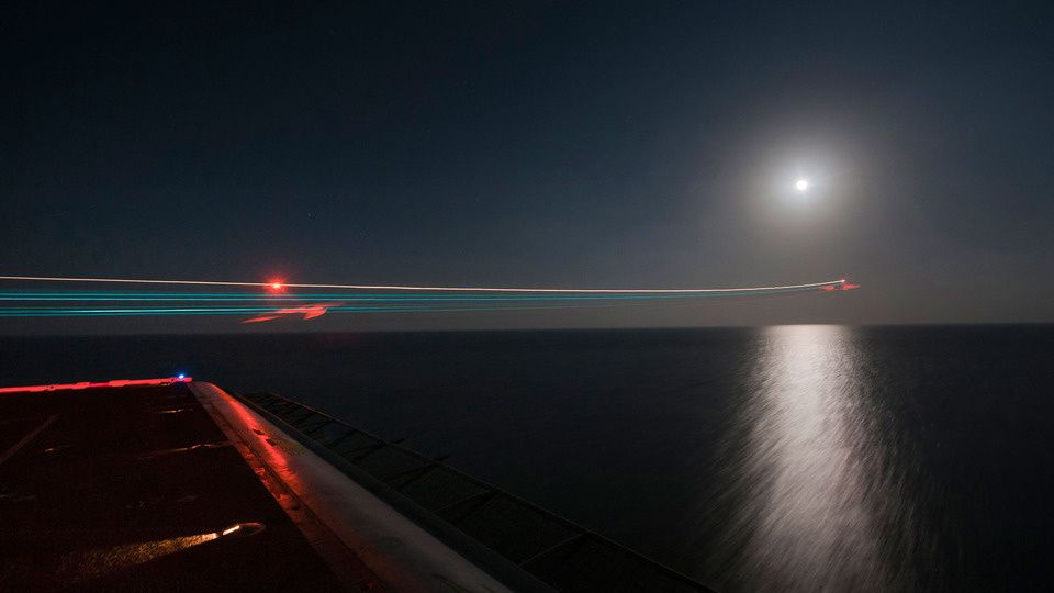 Takeoff - F/A-18 from the deck of the USS Carl Vinson
