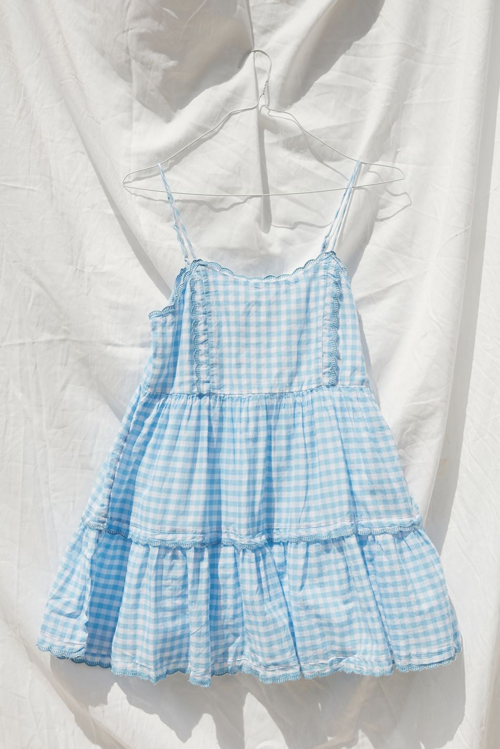Uo Juno Tie Back Mini Dress Blue Babydoll Dress Mini Frock Dress Urban Dresses [ 1463 x 976 Pixel ]