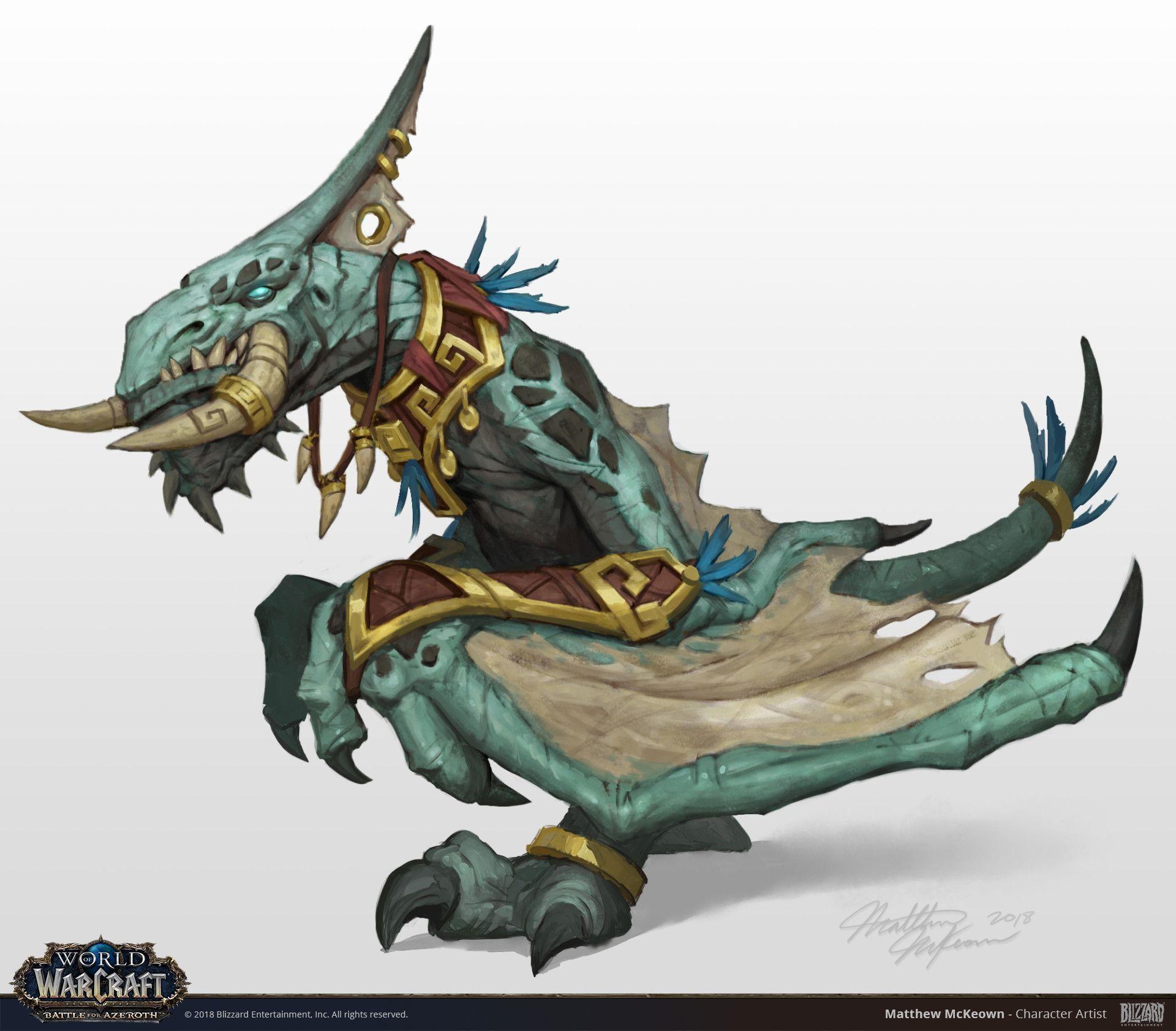 Artstation World Of Warcraft Zandalari Druid Form Concepts Matthew Mckeown World Of Warcraft Monstruos Criatura