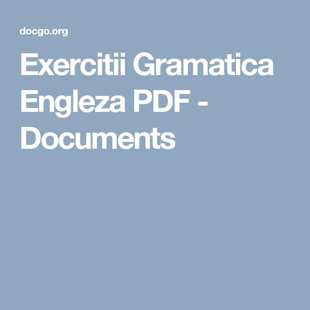 Gramatica Engleza Pdf