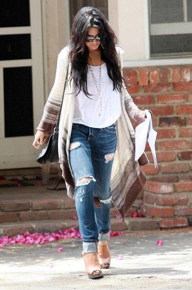 Vanessa Hudgens Boyfriend Jeans | Style, Boyfriends and Holy jeans