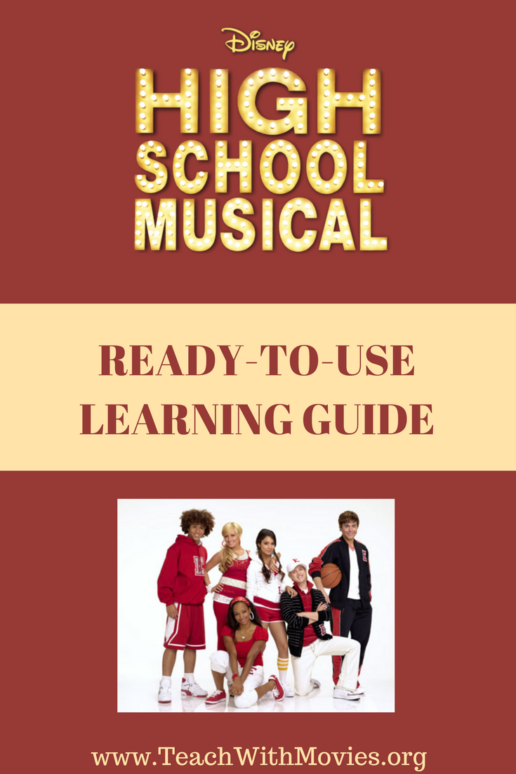 Want to use High School Musical in the classroom? No problem, free Movie Learning  Guide at TeachwithMovies.org #teachwithmovies