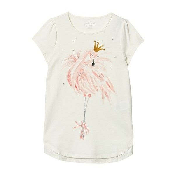 White Flamingo Embellished Graphic Tee ($25) ❤ liked on Polyvore featuring tops, t-shirts, graphic print tees, americana t shirts, graphic t shirts, graphic design t shirts and american tees
