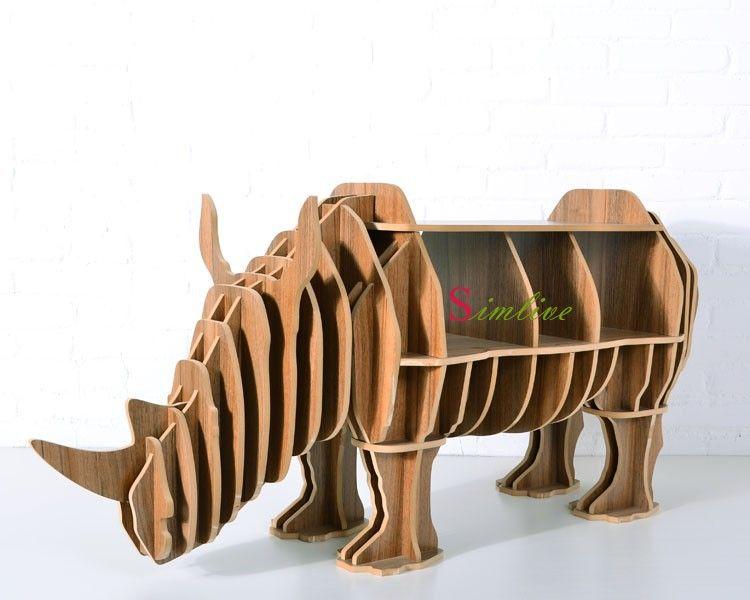 neushoorn puzzel tafel voor woonkamer decor diy r boekenkast