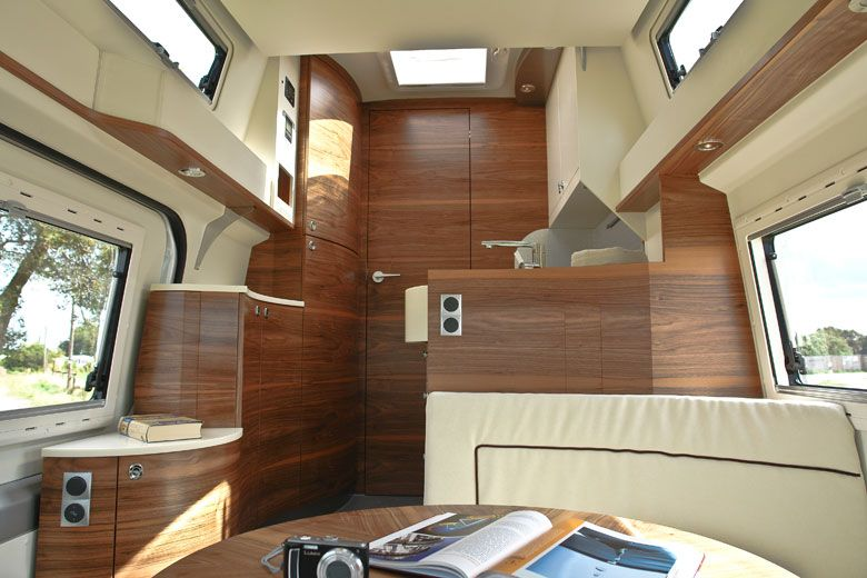 The Kubus Impuls Is An Ultra Luxury Mercedes Sprinter Conversion That Features Zebra Maple Veneer And Underfloor Radiant Heating Produced By JOKO Wohnmobil