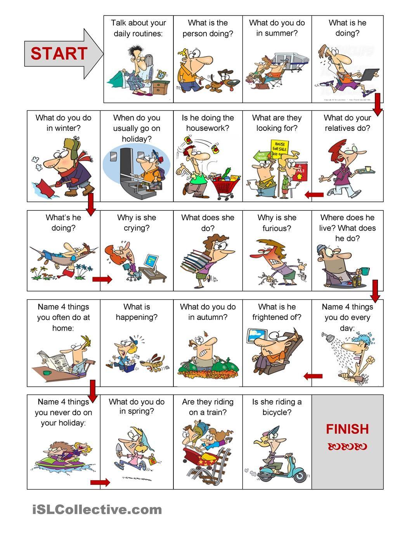 Present Simple Vs Present Continuous Speaking Activity Speaking Activities English Speaking Activities English Activities