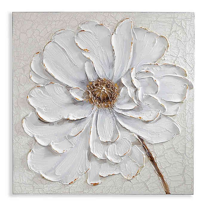 arthouse plaster floral canvas wall art buybuy baby on canvas wall art id=25680