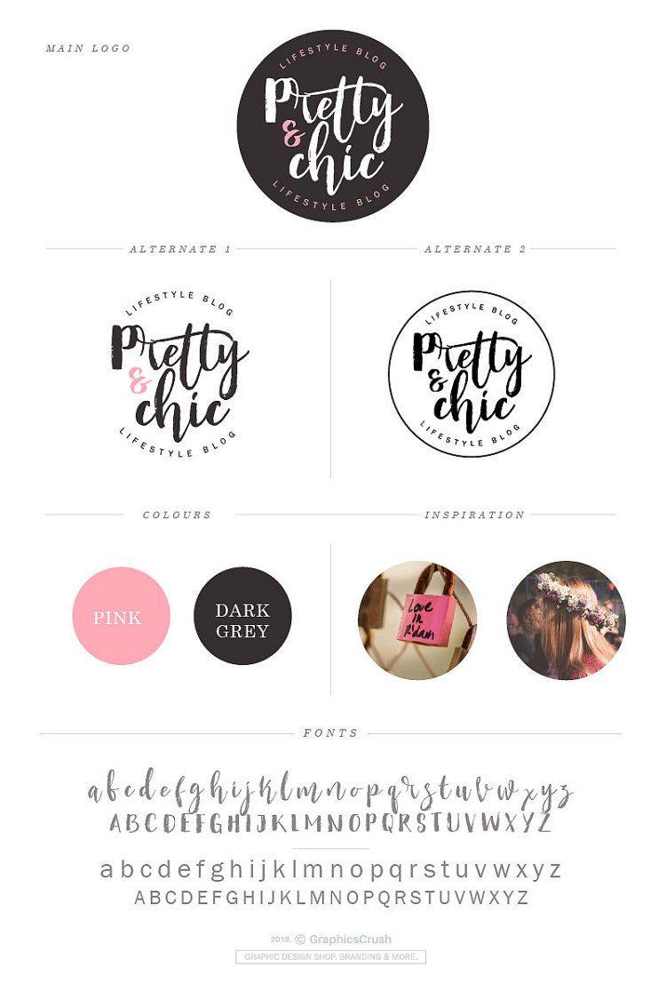 Blog Logo Design Lifestyle Blog Logo Brush Font By Graphicscrush