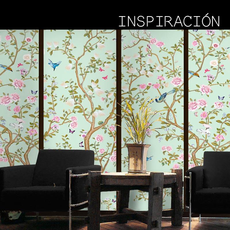 transforma tus paredes con papel tapiz