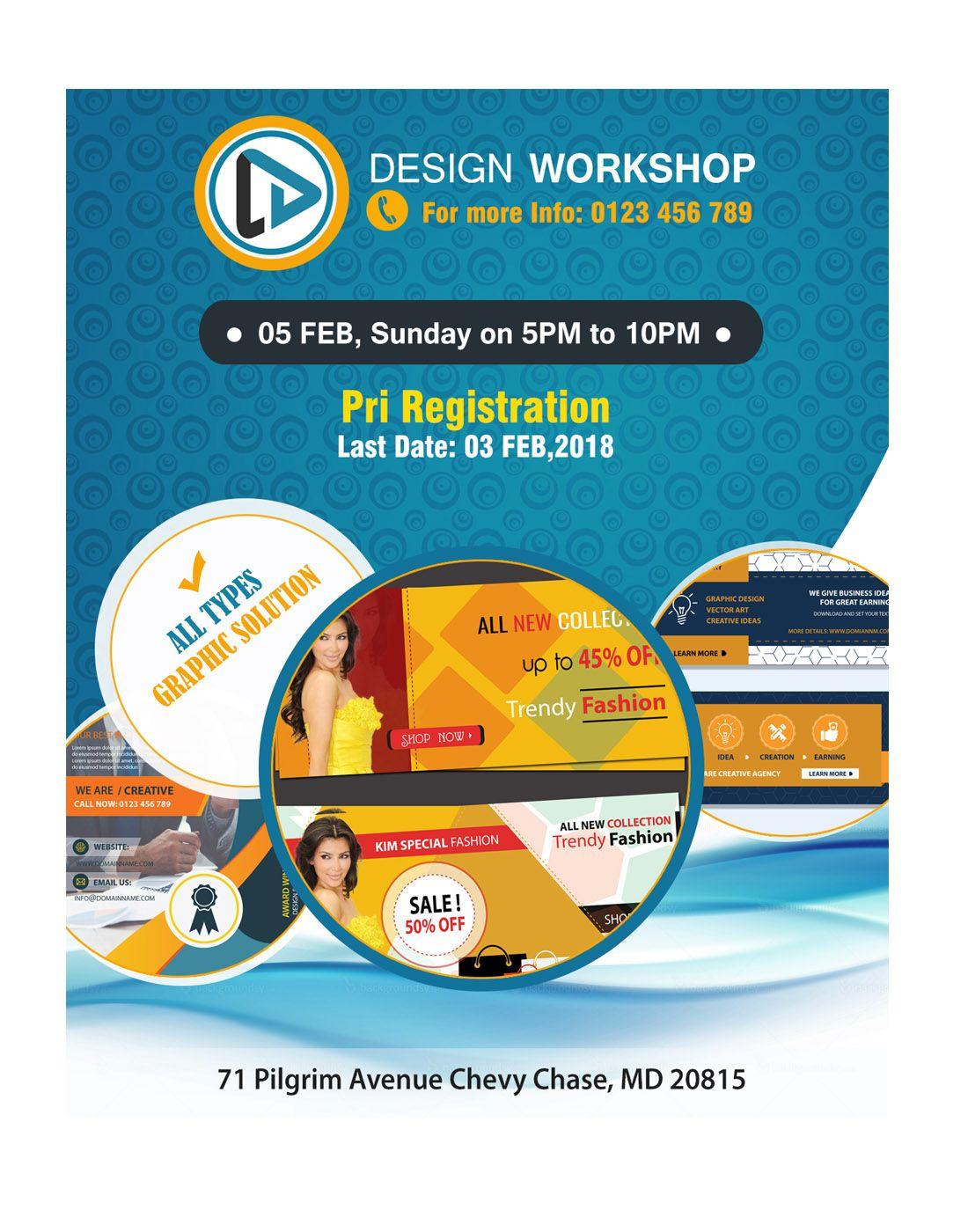 Workshop Flyer Psd Templates Psd Templates Workshop Templates