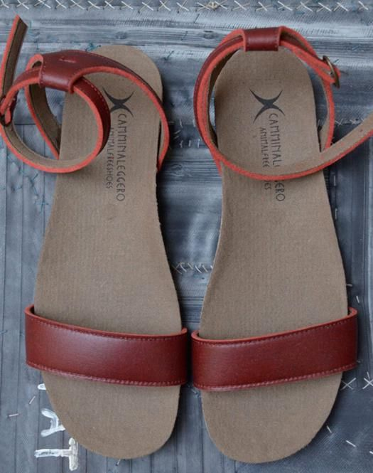 Sughero Sandale Rot | Vegan