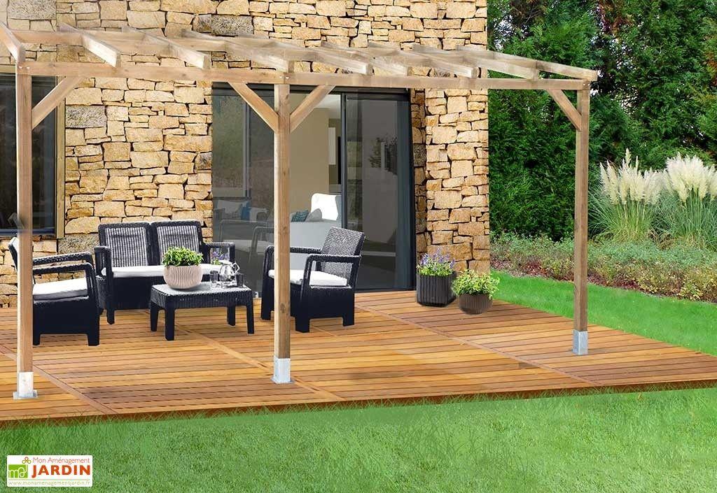 pergola en bois trait autoclave sans couverture 3x4 9 pergolas et tonnelles pinterest. Black Bedroom Furniture Sets. Home Design Ideas