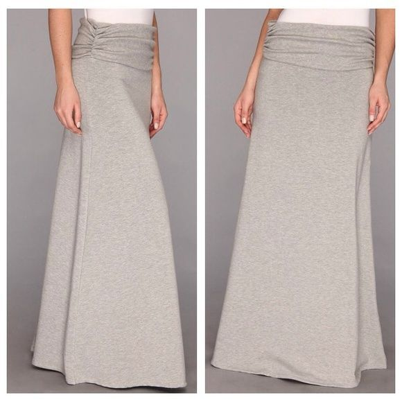 """Torn By Ronny Kobo Burnout Grey Maxi Skirt Amazing and super rare grey maxi skirt from Torn by Ronny Kobo! Super soft material with a burnout pattern. Can be worn with a wide waistband or folded over. Perfect for fall! In excellent condition! Xs but will also fit small. I'm 5'10"""" and this is long enough on me! Torn by Ronny Kobo Skirts Maxi"""