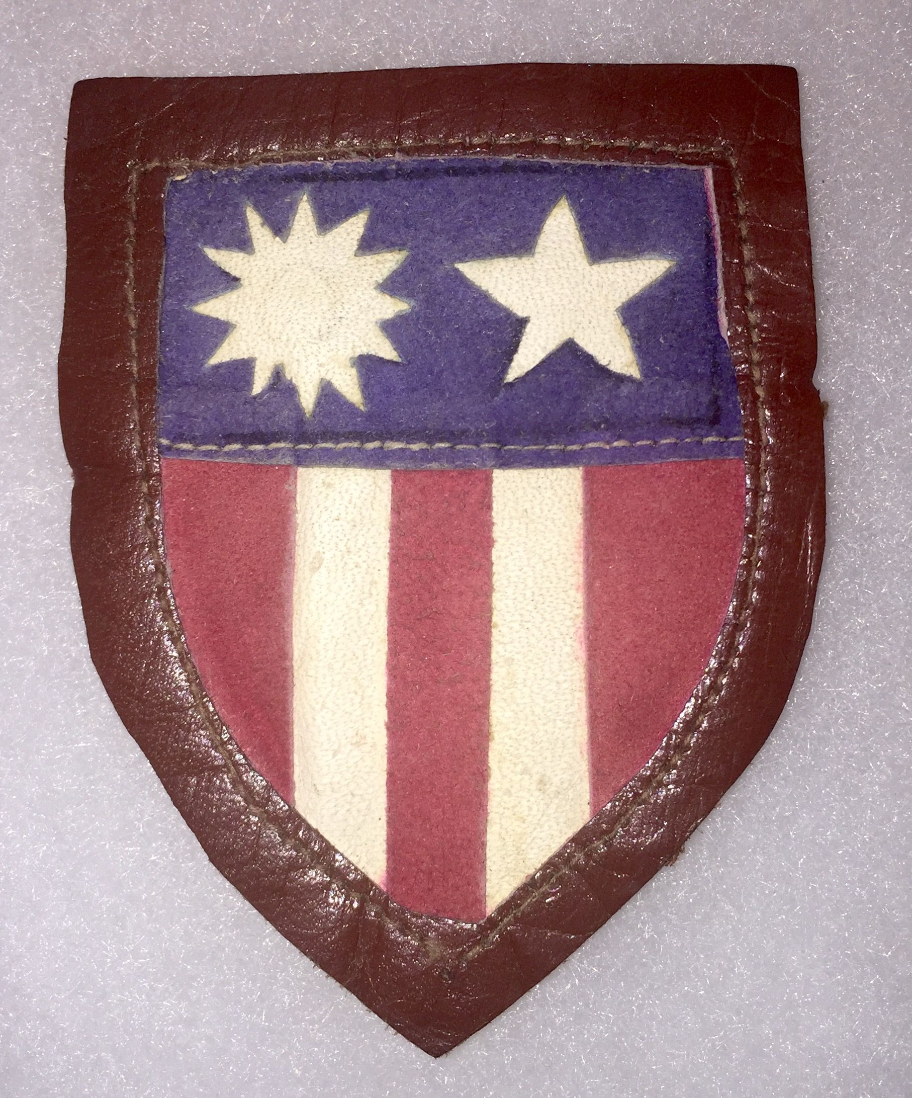 Leather CBI patch Patches, Volunteer groups, Wwii
