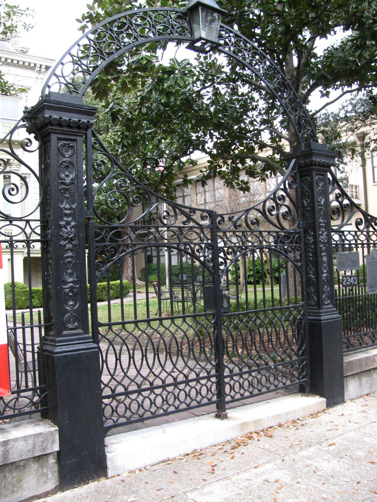 Custom Wrought Iron Gate New Orleans Garden District Photo By