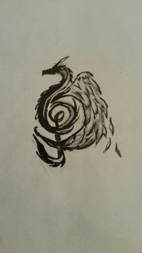 Dragon Music Note Drawing By Alysha Biljan Tattoo Ideas Music