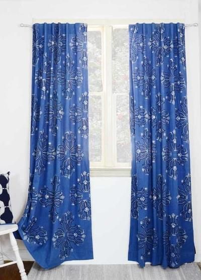 Ichcha Mumtaz Blue Curtains