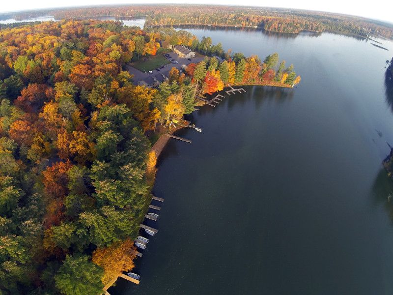 Autumn Colors In Vilas Park Lagoon >> Incredible Bird S Eye View Of Little St Germain Lake In Northern