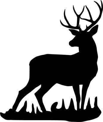 Deer buck. Mule wall decal stencils