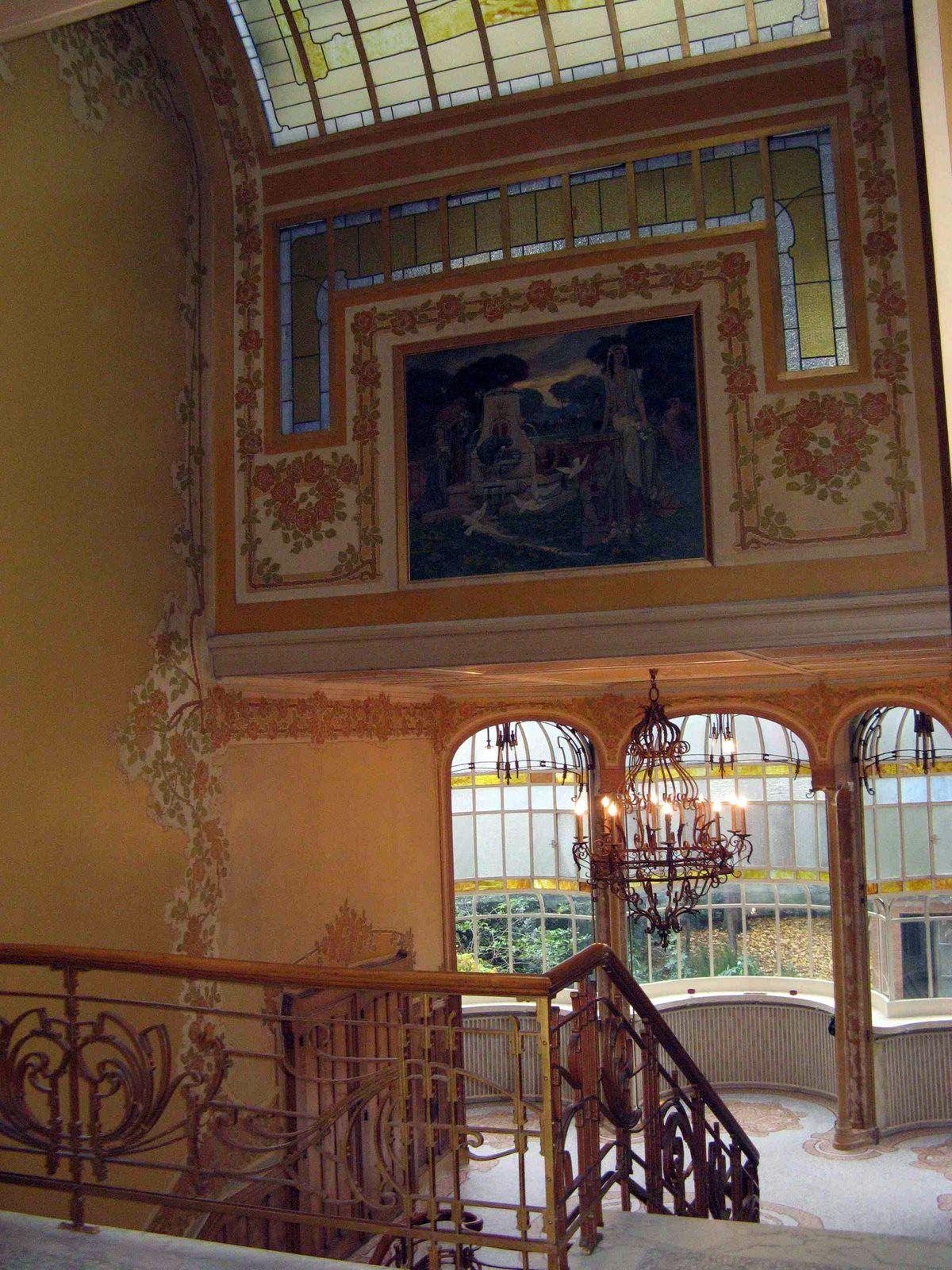 Art nouveau hotel max hallet bruxelles victor horta for Interieur art nouveau